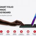 iWalk Crazy Keyboard Smart Folio Magic Bluetooth Keyboard For Apple iPad Pro 12.9 With Magnetic Stand – Black