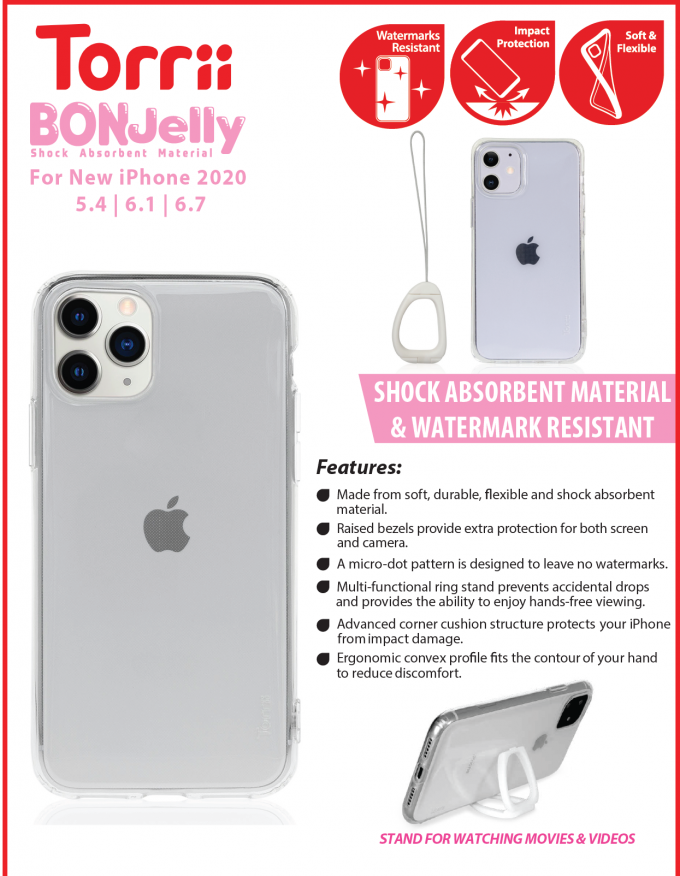 Torrii Bonjelly Clear for iPhone 2020 Catalogue